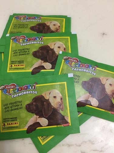 figuritas de amici cucciolotti cachorritos pack por 25