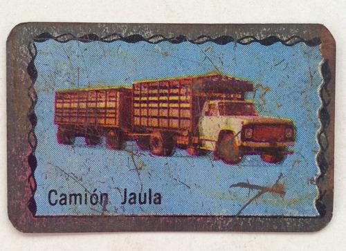figuritas de camion jaula chapa superchapitas 1972