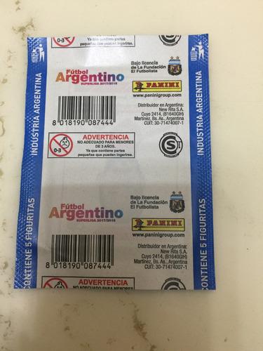 figuritas de fútbol argentino superliga 2017/2018 pack x25