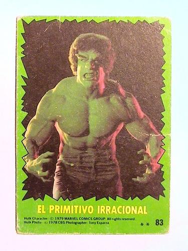 figuritas el increíble hulk - año 1979 - stani nº 83