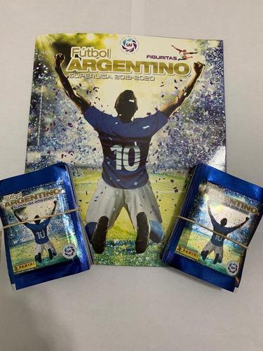 figuritas futbol argentino 2019/20 panini pack x 25 sobres