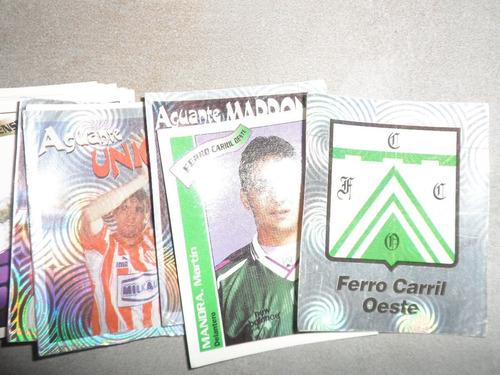 figuritas futbol argentino temporada 98´99