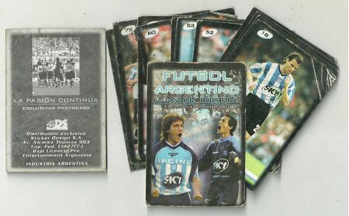 figuritas futbol - racing photocard - lote x 15 dif./