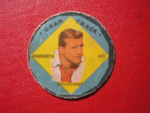 figuritas gran crack chacarita juniors año 1957 nº480 etchev