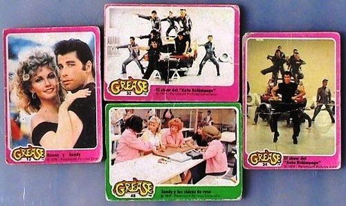 figuritas grease - año 1979 - lote 4 unidades