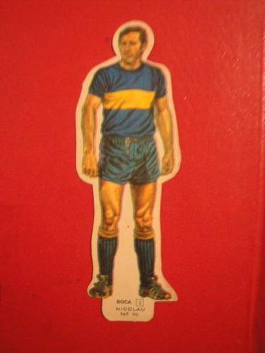 figuritas idolos 1969 silueta boca juniors nicolau