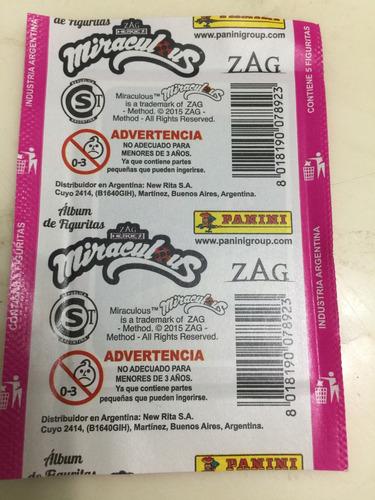 figuritas miraculous panini pack por 25