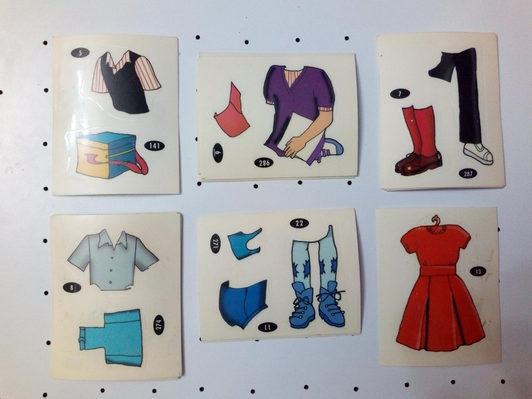 Figuritas Muñecas Para Vestir Lote X 10 A Eleccion 12000