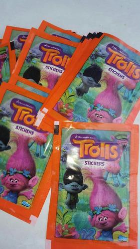 figuritas trolls pack por 25 sobres