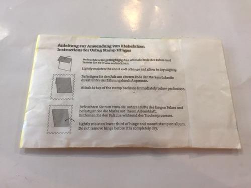 fija sellos engomados  para estampillas  prinz