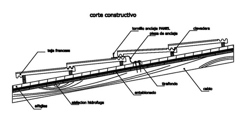 fijación bajo teja francesa para soporte de panel solar
