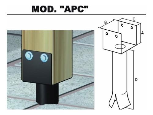 fijacion, soporte para columna de madera apc 44 - mader shop