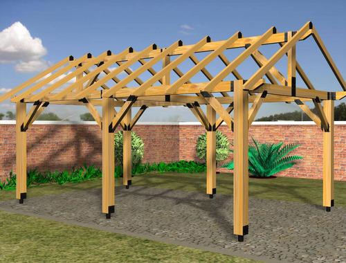 fijacion, soporte, para columna de madera apc 66 - mader shop