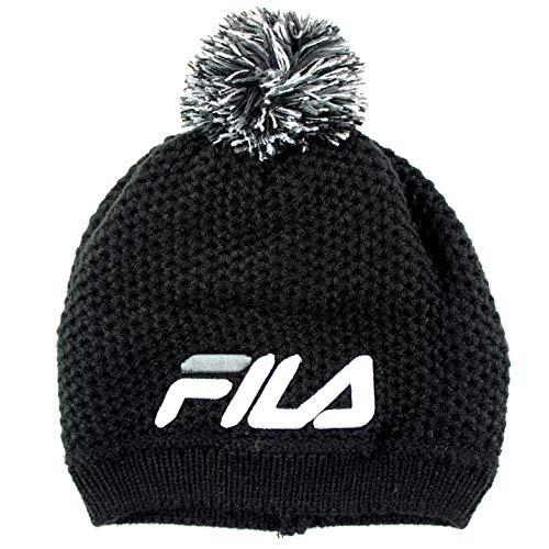 3148a7a94db Fila Adult Unisex Textured Pom Beanie Knit Hat (black) -   39.629 en ...