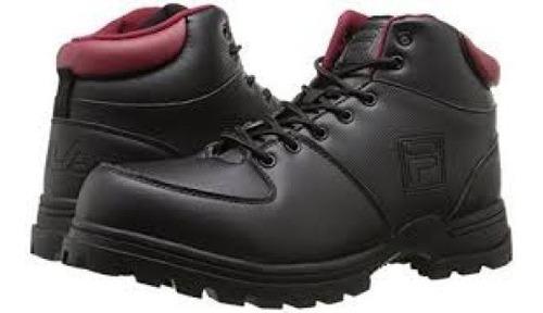 fila ascender 2 hiking botas de caminata  remate negro/rojo