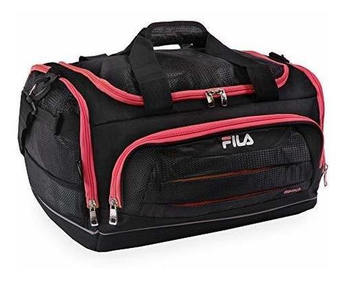 fila cipres pequeño deporte bolsa deportiva negro / rojo) f