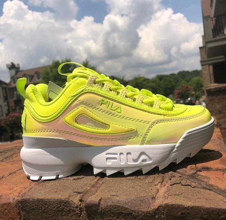 fila disruptor ii shift yellow shoes