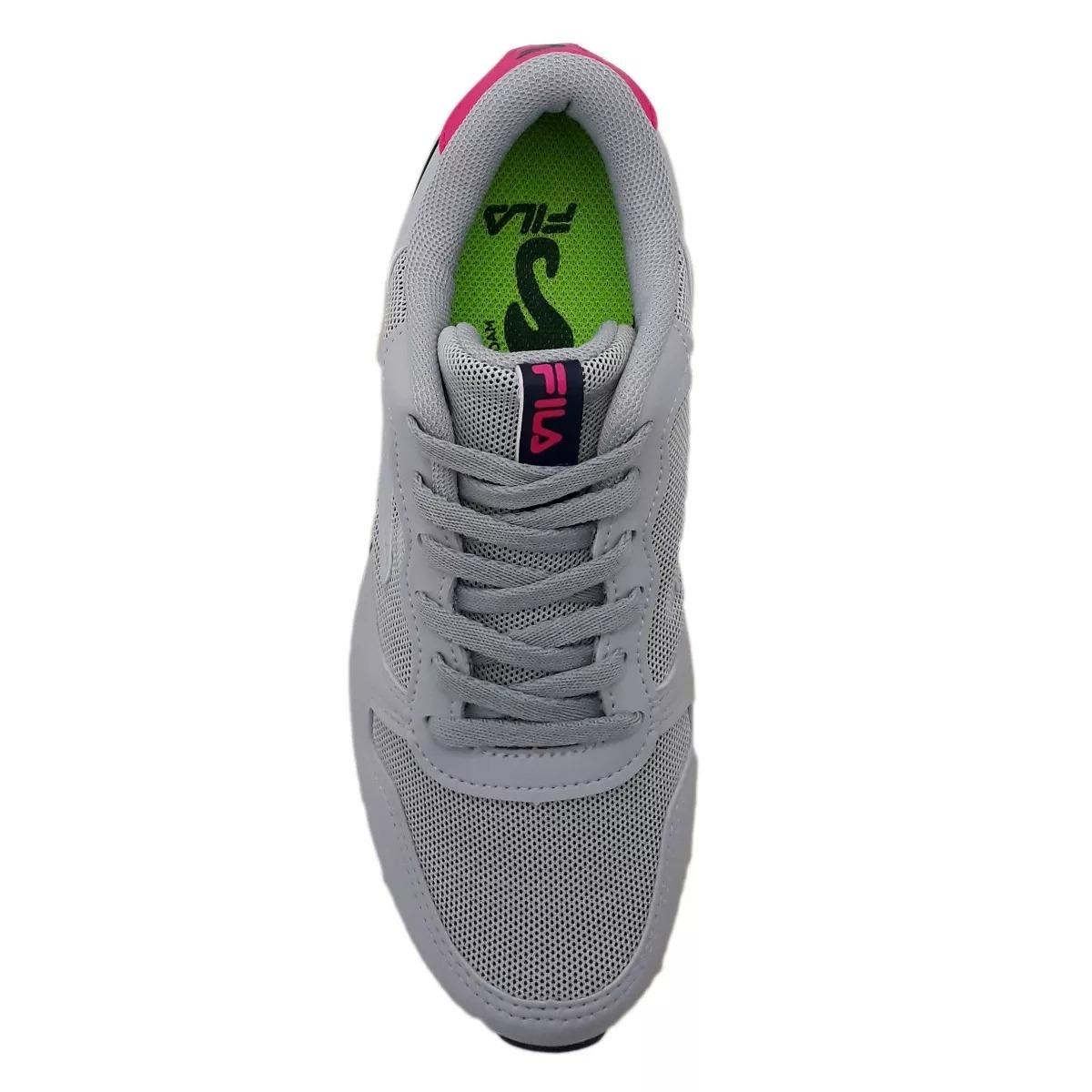 b67e57974f2 Carregando zoom... tênis fila feminino euro jogger sport 802952 cinza  marinho
