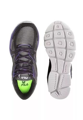 fila zapatilla training mujer reach super foam negro/violeta