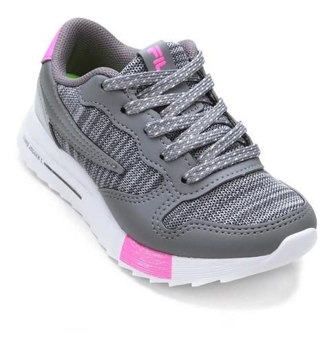 fila zapatillas lifestyle niña euro jogger sport gris-fucsia
