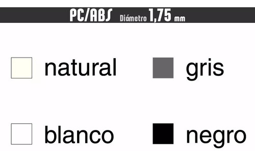 filamento 10 x pc/abs + cuotas :: printalot