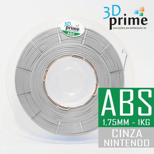 filamento 3d prime abs cinza claro (nintendo) 1,75mm 1kg