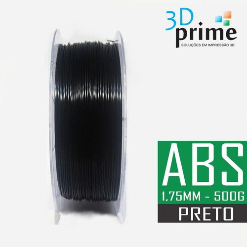 filamento 3d prime abs preto 1,75mm 500g