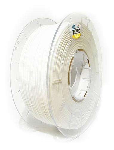 filamento 3d prime pla branco 1,75mm 1kg