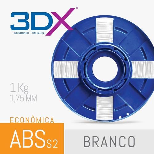 filamento abs 1,75 mm 1kg | branco | s2