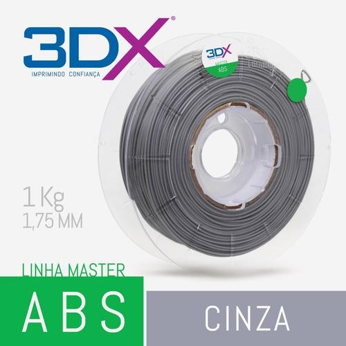 filamento abs 1,75 mm | 1kg | cinza