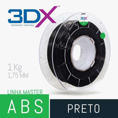filamento abs 1,75 mm | 1kg | preto +
