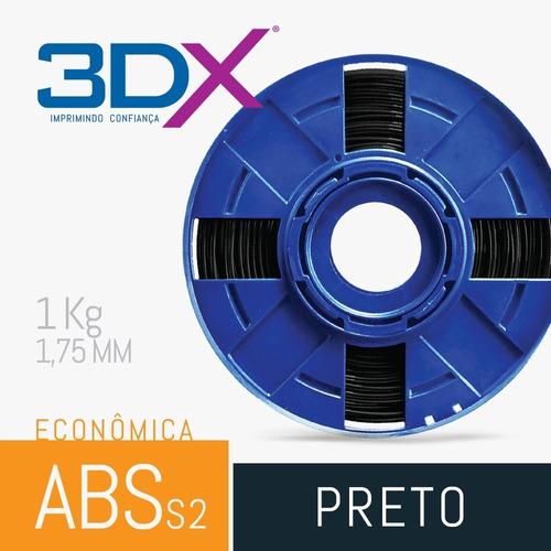 filamento abs 1,75 mm 1kg | preto | s2