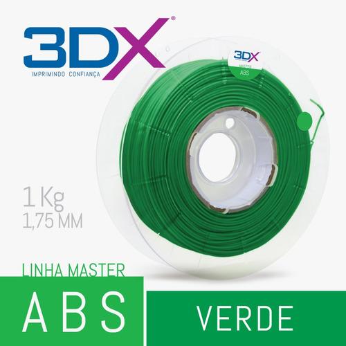 filamento abs 1,75 mm | 1kg | verde