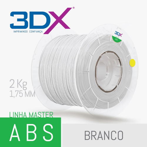 filamento abs 1,75 mm | 2kg | branco big