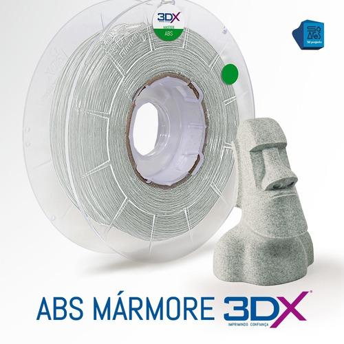 filamento abs 1,75 mm   500g   mármore