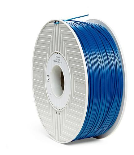 filamento abs 3d de 1,75 mm 1 kg  verbatim azul 55002