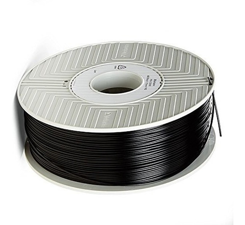 filamento abs 3d de 1,75 mm 1 kg  verbatim  negro 55000