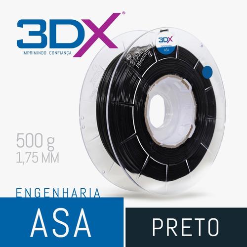 filamento asa preto 1kg 1,75mm 3dx