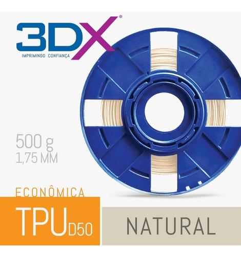 filamento flex tpu d50 1,75 mm | 500g natural s2