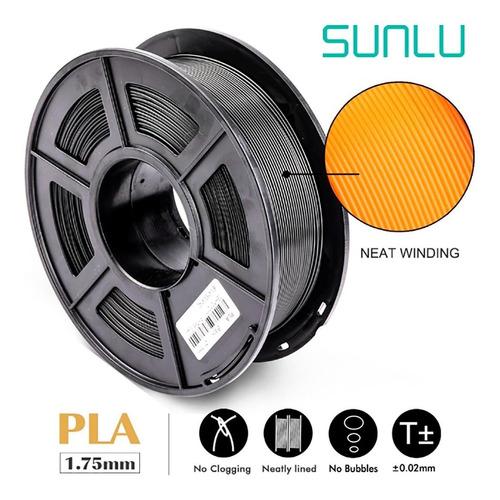 filamento impresora 3d pla abs 1.75 1kg marca premium sunlu
