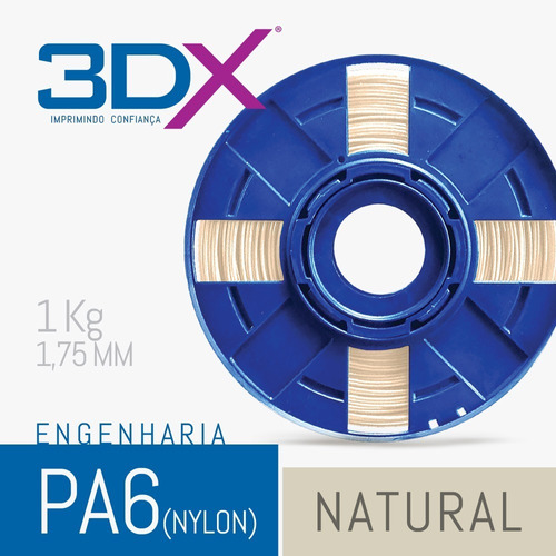 filamento pa 1,75 mm | 1kg natural (nylon)