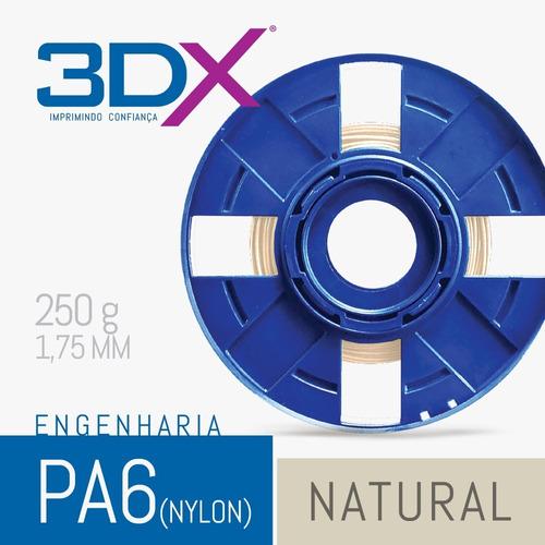 filamento pa 1,75 mm | 250g natural (nylon)
