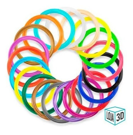 filamento para caneta 3d - pla pro - loja 3d - 10 x 5m