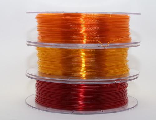 filamento petg 1,75 mm | 500g | amarelo translucido
