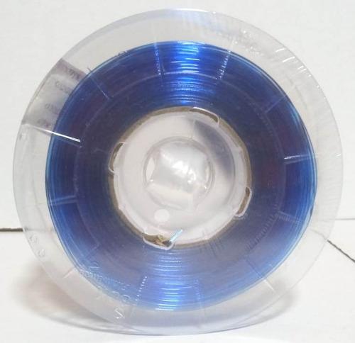 filamento petg 1,75 mm   500g   azul claro translucido
