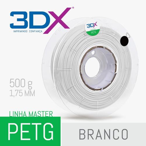 filamento petg 1,75 mm | 500g | branco