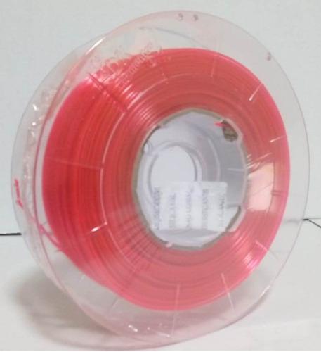 filamento petg 1,75 mm   500g   rosa neon translucido