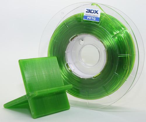 filamento petg 1,75 mm | 500g | verde translucido