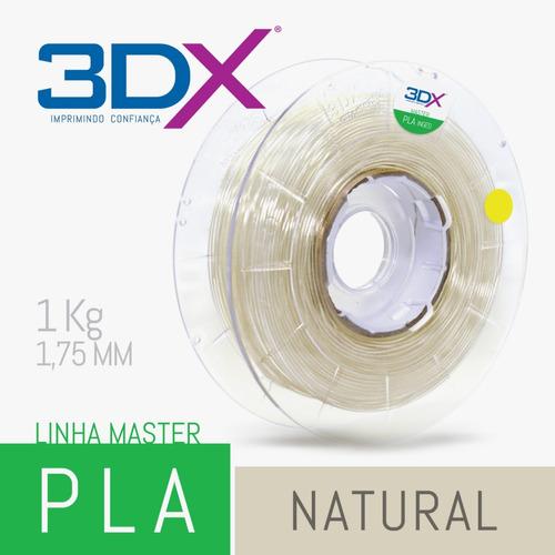 filamento pla 1,75 mm | 1kg | natural