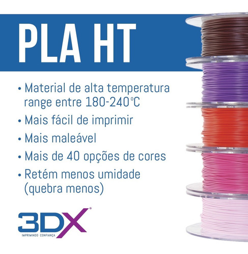 filamento pla 1,75 mm   1kg   preto 3dx